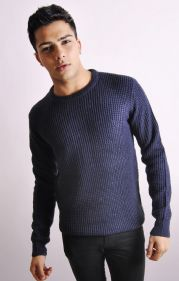 Crew Neck Jumper In Navy